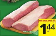 Boneless Pork Loin Rib Or Sirloin Halves