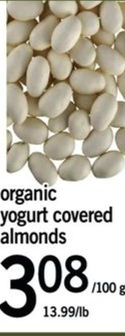 Organic Yogurt Covered Almonds