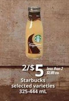 Starbucks - 325-444 mL