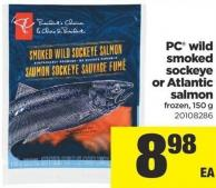PC Wild Smoked Sockeye Or Atlantic Salmon - 150 g