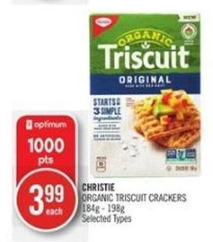 Christie Organic Triscuit Crackers