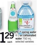 PC  Spring Water 4 L Or Carbonated Water 750 Ml