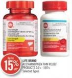 Life Brand Acetaminophen Pain Relief Product 24' s -150's