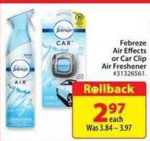 Febreze Air Effects or Car Clip Air Freshener