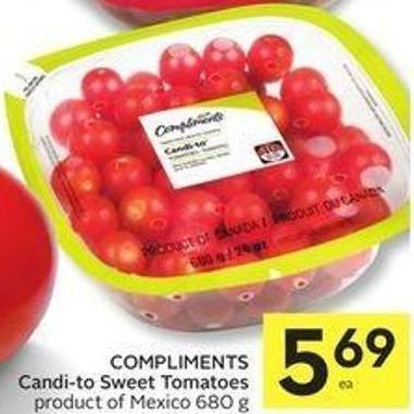 Compliments Candi-to Sweet Tomatoes 680 g
