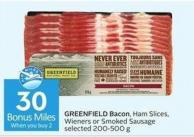 Greenfield Bacon - 30 Air Miles Bonus Miles