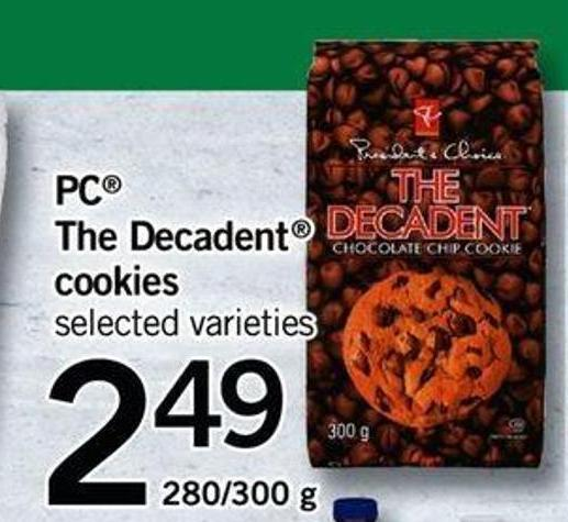 PC The Decadent Cookies - 280/300 g