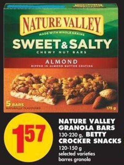 Nature Valley Granola Bars - 130-230 g - Betty Crocker Snacks - 120-150 g