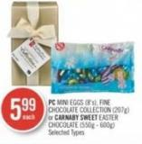 PC Mini Eggs (8's) - Fine Chocolate Collection (207g) or Carnaby Sweet Easter Chocolate (550g - 600g)