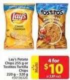 Lay's Potato Chips 255 g or Tostitos Tortilla Chips 220 G- 320 g