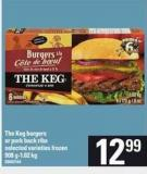 The Keg Burgers Or Pork Back Ribs - 908 G-1.02 Kg