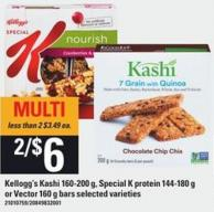 Kellogg's Kashi - 160-200 g - Special K Protein - 144-180 g Or Vector - 160 g Bars