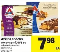 Atkins Snacks 140-240 G Or Bars 5's