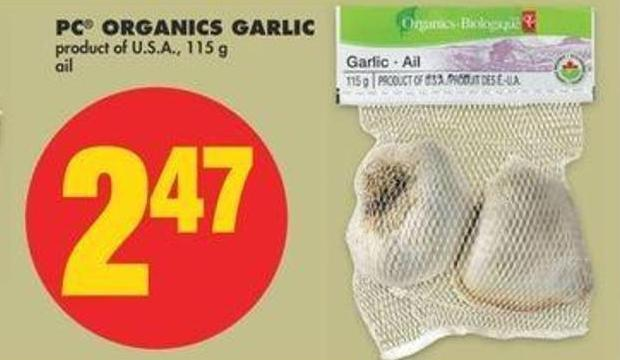 PC Organics Garlic - 115 G