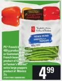 PC French Beans 400 G Product Of Mexico Or Guatemala Or Yellow French Beans 350 G Or Farmer's Market Extra Large Peppers - 3's