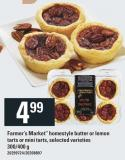 Farmer's Market Homestyle Butter Or Lemon Tarts Or Mini Tarts - 300/400 g
