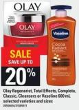 Olay Regenerist - Total Effects - Complete - Classic - Cleansers Or Vaseline 600 Ml