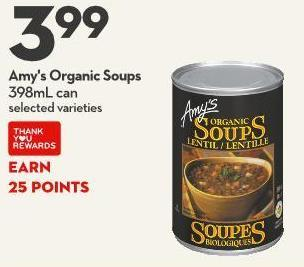Amy's Organic Soups 398ml Can