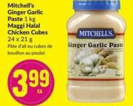Mitchell's Ginger Garlic Paste 1 Kg Maggi Halal Chicken Cubes 24 X 21 g