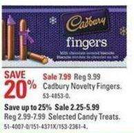 Cadbury Novelty Fingers