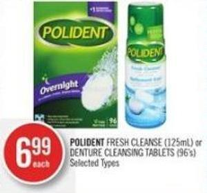 Polident Fresh Cleanse (125ml) or Denture Cleansing Tablets (96's)