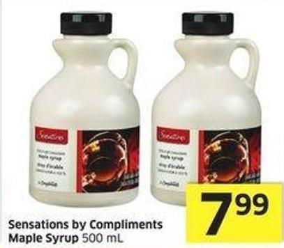 Sensations By Compliments Maple Syrup 500 mL