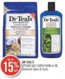 Dr Teal's Epsom Salt - Bath Foam or Oil