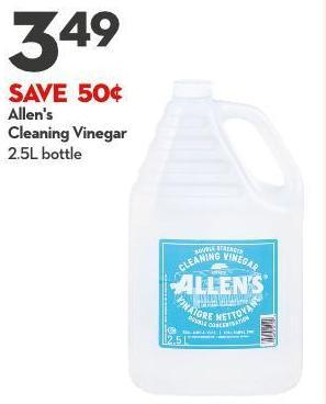 Allen's  Cleaning Vinegar 2.5l Bottle
