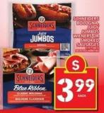 Schneiders Bologna - Juicy Jumbos Wieners Or Smoked Sausages