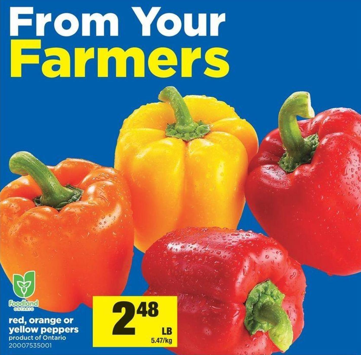 Red - Orange Or Yellow Peppers