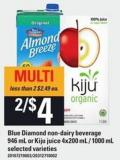 Blue Diamond Non-dairy Beverage 946 Ml Or Kiju Juice 4x200 Ml / 1000 Ml