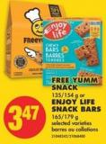 Snack 135/154 g or Enjoy Life Snack Bars 165/179 g