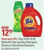 Selected Tide Laundry Detergent - Downy or Gain Scent Boosters