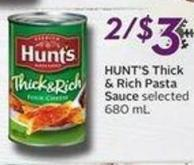 Hunt's Thick & Rich Pasta Sauce