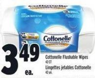 Cottonelle Flushable Wipes 42 Ct