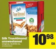 Silk Truealmond Unsweetened - 6x946 Ml