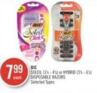 Bic Soleil (3's - 4's) or Hybrid (3's - 6's) Disposable Razors