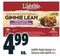 Lightlife Veggie Sausage 397 g