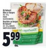 Oh Naturel! Bites Or Burgers 352 - 375 G