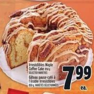 Irresistibles Maple Coffee Cake 850 g