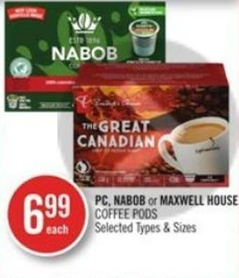 PC - Nabob or Maxwell House Coffee Pods