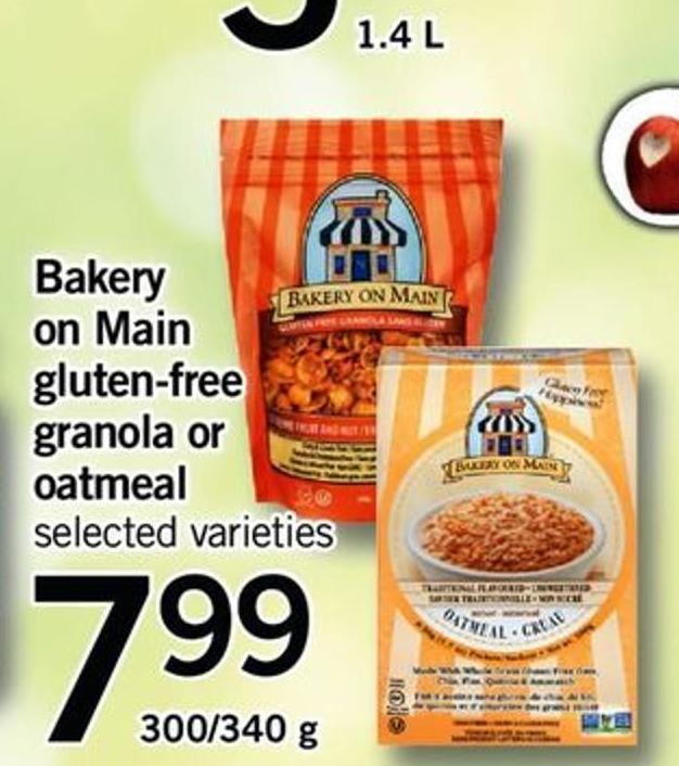Bakery On Main Gluten-free Granola Or Oatmeal - 300/340 G
