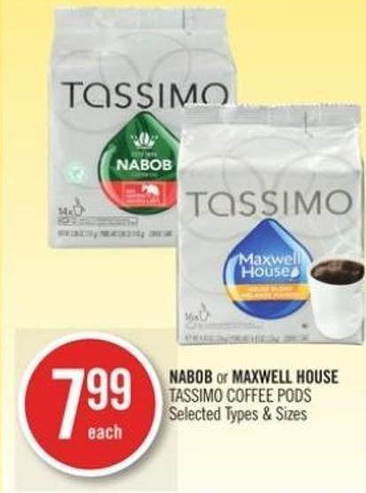 Nabob or Maxwell House Tassimo Coffee PODS