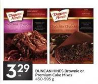 Duncan Hines Brownie or Premium Cake Mixes 450-595 g