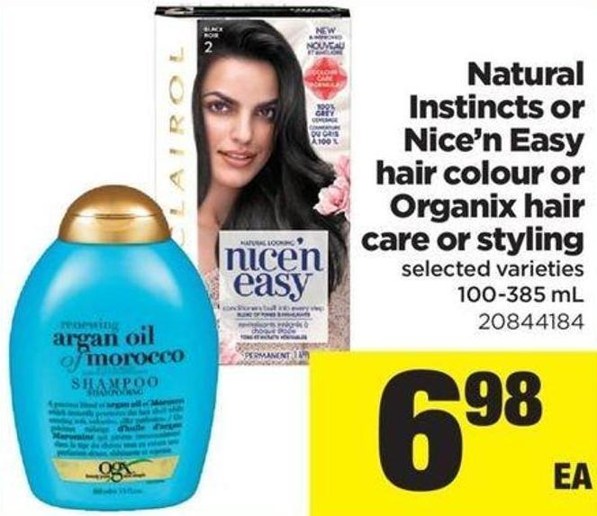 Natural Instincts Or Nice'n Easy Hair Colour Or Organix Hair Care Or Styling - 100-385 mL