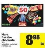 Mars Fun Size Chocolate - 50's