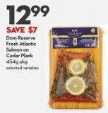 Dom Reserve Fresh Atlantic  Salmon On  Cedar Plank  454g Pkg