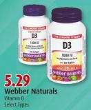 Webber Naturals Vitamin D Select Types