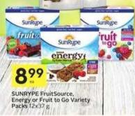 Sunrype Fruitsource - Energy or Fruit To Go Variety Packs