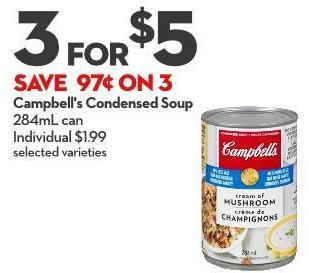 Campbell's Condensed Soup 284ml Can Individual $1.99